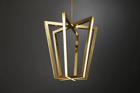 Design Chandeliers Asterix A Family Of Geometric Brass Chandeliers Design Milk