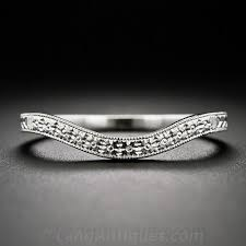 vintage wedding bands for contoured engraved platinum wedding band