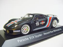 martini porsche 918 2013 porsche 918 spyder record run nürburgring 1 43