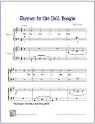farmer in the dell boogie duet free beginner piano sheet