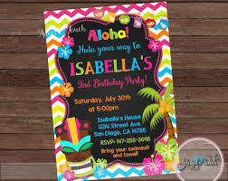 luau party invitation luau birthday invitation chalk luau