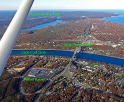 cape cod canal and bridges aerial view our cape cod pinterest