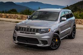 gray jeep grand cherokee with black rims 2018 jeep grand cherokee trackhawk first drive review automobile