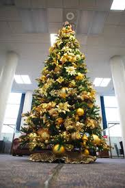 great trees yellow tree decorations on with live