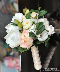 brides bouquet artificial magnolia flowers wedding bridal bouquet holding