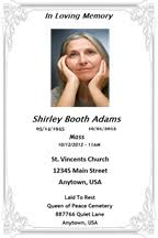 Memorial Booklet Religious U0026 Memorial Services U2014 Martha Lynn Laskie Graphic Design