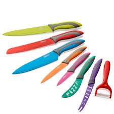 Coloured Kitchen Knives Swan 8 Multi Colour Knife Set Iwoot