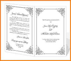 wedding program printable 8 free printable wedding program templates card authorization 2017