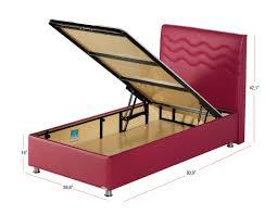 Twin Xl Bedroom Furniture Twinjoy Platform Bed W Headboard Twin Xl Size Fuchsia By Sunset