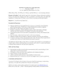 amusing resume skills for loan processor also 25 qualified