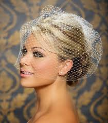 Vintage Wedding Hairstyles Vintage Wedding Hairstyle With Birdcage Veil For Blonde Hair