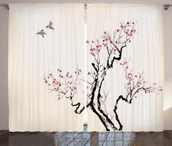 Tree Branch Home Decor tree branch pattern curtains home decoration ideas