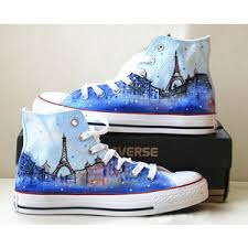 eiffel tower shoes converse galaxy converse custom converse