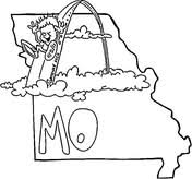 missouri map coloring pages missouri map coloring page free printable coloring pages