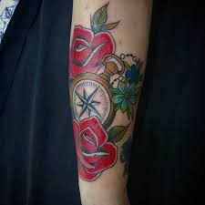 75 rose and compass tattoo designs u0026 meanings choose yours 2017
