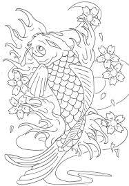 koi fish coloring page ijigen me