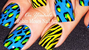 animal print nails diy zebra and leopard nail art design for