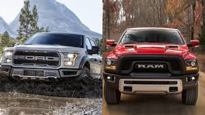 Ranger Svt Raptor 2017 Ford F 150 Raptor Vs 2016 Dodge Ram 1500 Youtube