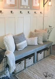 Decorating The Entrance To Your Home Diy 25 Farmhouse Bench U0026 Youtube Video Farmhouse Bench