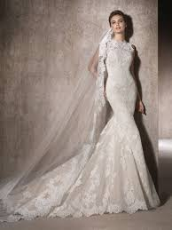 san wedding dresses moira mermaid wedding dress in tulle with a crew neckline