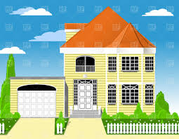 small house with garage mansion clipart cliparts for you