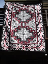 Tom Russell Navajo Rug Klagetoh Weaving Navajo Rug By Rose Ann Begay Large Size Two