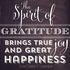 the spirit of gratitude brings true and great happiness