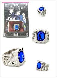 anime ring necklace images Anime black butler ciel phantomhive cosplay sapphire finger ring jpg