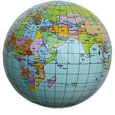 globe earth maps pvc world earth 15 inch globe atlas