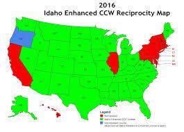 pa carry permit reciprocity map idaho enhanced concealed carry reciprocity map