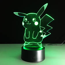 illusion led picture more detailed picture about pikachu 3d