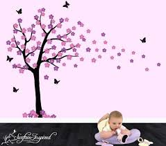 Purple Wall Decals For Nursery Thinking About Doing This Tree In Brown Purple And A