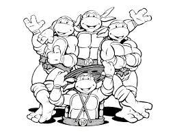 tmnt coloring pages ninja turtles weapons ninja