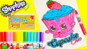 shopkins coloring pages videos shopkins cupcake chic coloring page happy places surprises and more