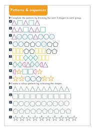 patterns and sequences maths worksheet free early years