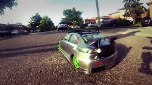 mitsubishi evo custom rc drift 2013 mitsubishi lancer evo custom tuned youtube