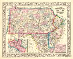 Potomac River On Map Maps Antique United States Us States Maryland