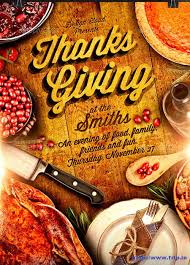 100 best thanksgiving party flyers print templates 2016 frip in
