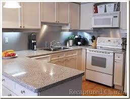 kitchen stainless steel backsplash recaptured charm backsplash with the look of stainless steel