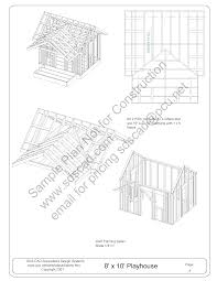 free playhouse plans blueprints construction drawings pdf download