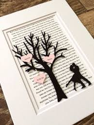 paper anniversary gift personalized year anniversary gift tree paper 1st
