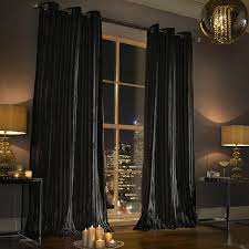 kylie minogue iliana black curtains designer eyelet velvet