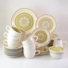 vintage franciscan dinnerware set service for 7 plus hacienda