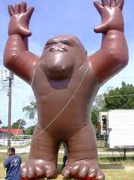 gorilla balloon character shaped rentals outdoor advertising in orlando