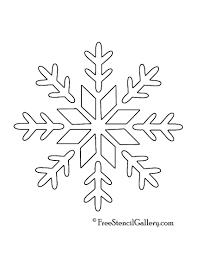 snowflake stencil 09 free stencil gallery