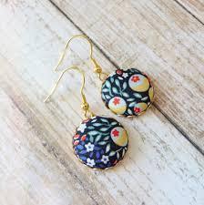 liberty earrings liberty earrings colorful earrings multicolor earrings flower