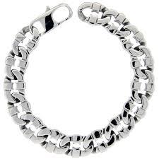 hand bracelet men images Worldjewels stainless steel flat mariner link bracelet for men jpeg