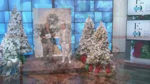 ed on air santa s best 9 flocked spruce tree by degeneres