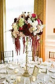 Burgundy Wedding Centerpieces by Tallcenterpiece Tall Centerpiece Arrangement On Our Antique Gold