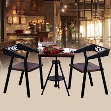 iron wood tables and chairs combination of loft retro outdoor